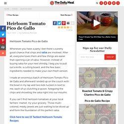 Heirloom Tomato Pico de Gallo Recipe by Catherine McCord