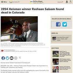 1994 Heisman winner Rashaan Salaam found dead in Colorado
