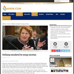 Heitkamp considered for energy secretary