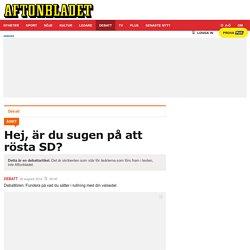 Hej, är du sugen <div> på att rösta SD?</div>