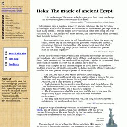Heka, the ancient Egyptian magic