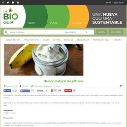 Helado natural de plátano