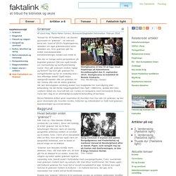 Faktalink: Artikel og kilder til emnet Grænser