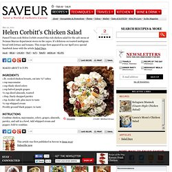 Helen Corbitt's Chicken Salad Recipe