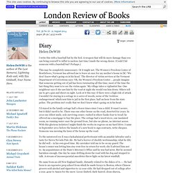 Helen DeWitt · Diary: On Being Stalked · LRB 21 August 2014