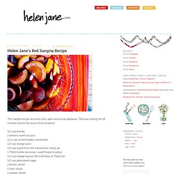Helen Jane's Red Sangria Recipe | helenjane.com