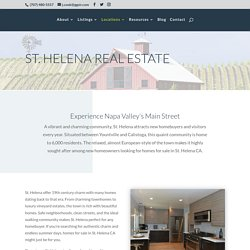 Homes For Sale ST Helena CA
