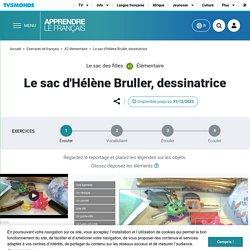 Le sac d'Hélène Bruller, dessinatrice