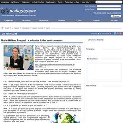 Marie Hélène Fasquel : « e-books & the environment»
