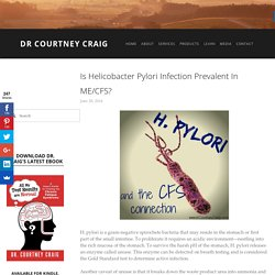 Is Helicobacter Pylori Infection Prevalent in ME/CFS? — Dr Courtney Craig