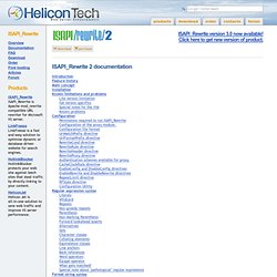 Helicon Tech - IIS modules and ISAPI filters for URL rewriting a