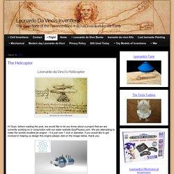The Helicopter » Leonardo Da Vinci's Inventions