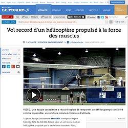 Vol record d'un hélicoptère propulsé à la force des muscles