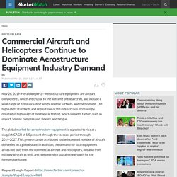Commercial Aircraft and Helicopters Continue to Dominate Aerostructure Equipment Industry Demand