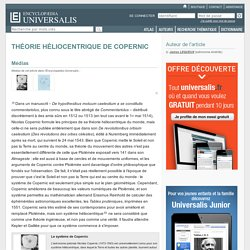 THÉORIE HÉLIOCENTRIQUE DE COPERNIC