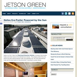 Helios Eco-Trailer Powered by the Sun