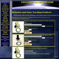Heliostats and Solar Tracking