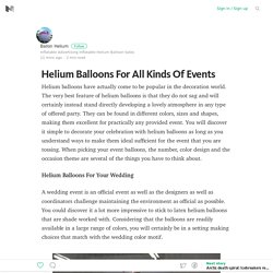 Helium Balloons For All Kinds Of Events – Medium