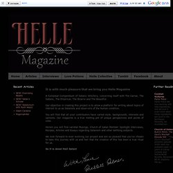 Helle Magazine: Welcome to Helle