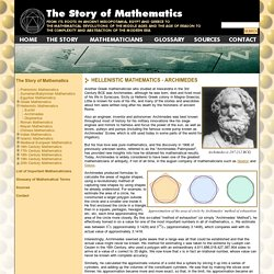 Archimedes - Hellenistic Mathematics