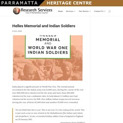 » Helles Memorial and Indian Soldiers