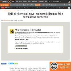 Hellink : Le visual novel qui sensibilise aux fake news arrive sur Steam