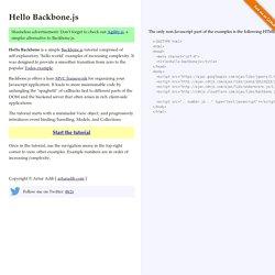 Hello Backbone.js Tutorial