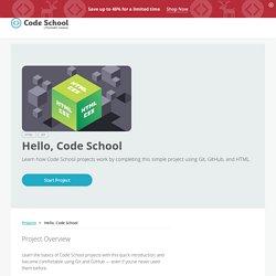 Hello, Code School
