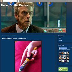How To Knit A Sonic Screwdriver