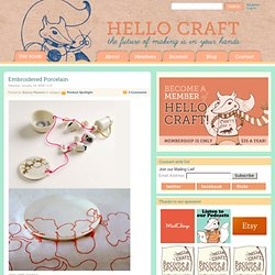 Hello Craft » Embroidered Porcelain