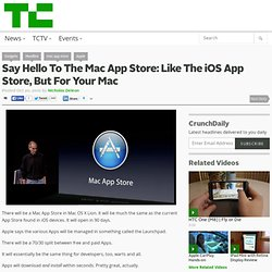 Say Hello To The Mac App Store: Like The iOS App Store, But For Your Mac