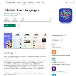 HelloTalk Language Exchange - Android Apps on Google Play