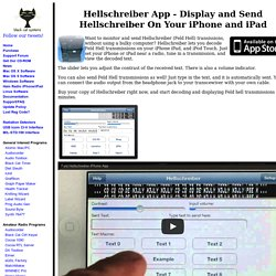 Hellschreiber App - Display and Send Hellschreiber On Your iPhone and iPad