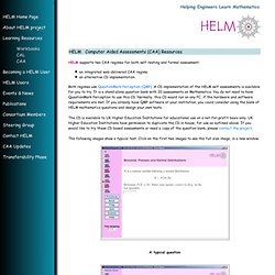 HELM - CAA resources