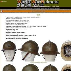 .: World War Helmets - Casque Adrian modèle 26 :.