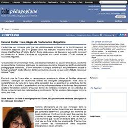 Héloïse Durler : Les pièges de l'autonomie obligatoire