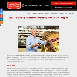 How to Help Your Aging Parent Shop for Groceries