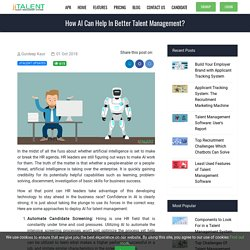 How AI can Help in Better Talent Management?