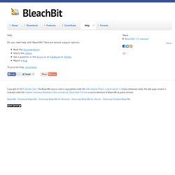 BleachBit - Iceweasel