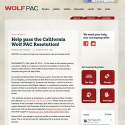 Help pass the California Wolf PAC Resolution! - Wolf PAC