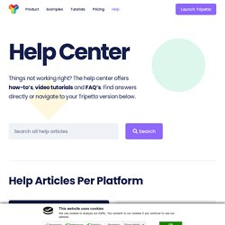 Help Center - Tripetto