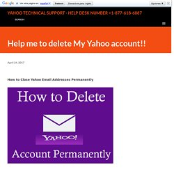 Help me to delete My Yahoo account!!