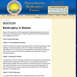 We Help You File Boston Bankruptcy