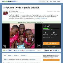 Help Amy live in Uganda this fall! by Amy Bloomquist