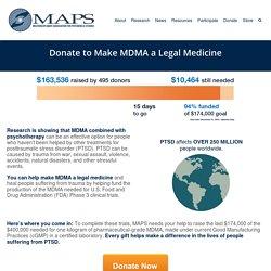 Help Make MDMA a Legal Medicine