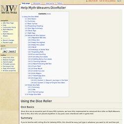 Help:Myth-Weavers:DiceRoller - Myth-Wiki