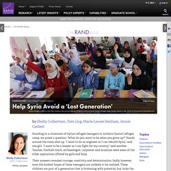 Help Syria Avoid a 'Lost Generation'