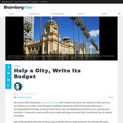 Help a City, Write Its Budget