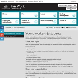 Help for young workers and students - Fair Work Ombudsman