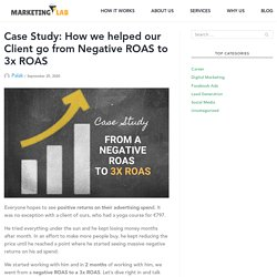 How We Helped Our Client From Negative ROAS To 3x ROAS